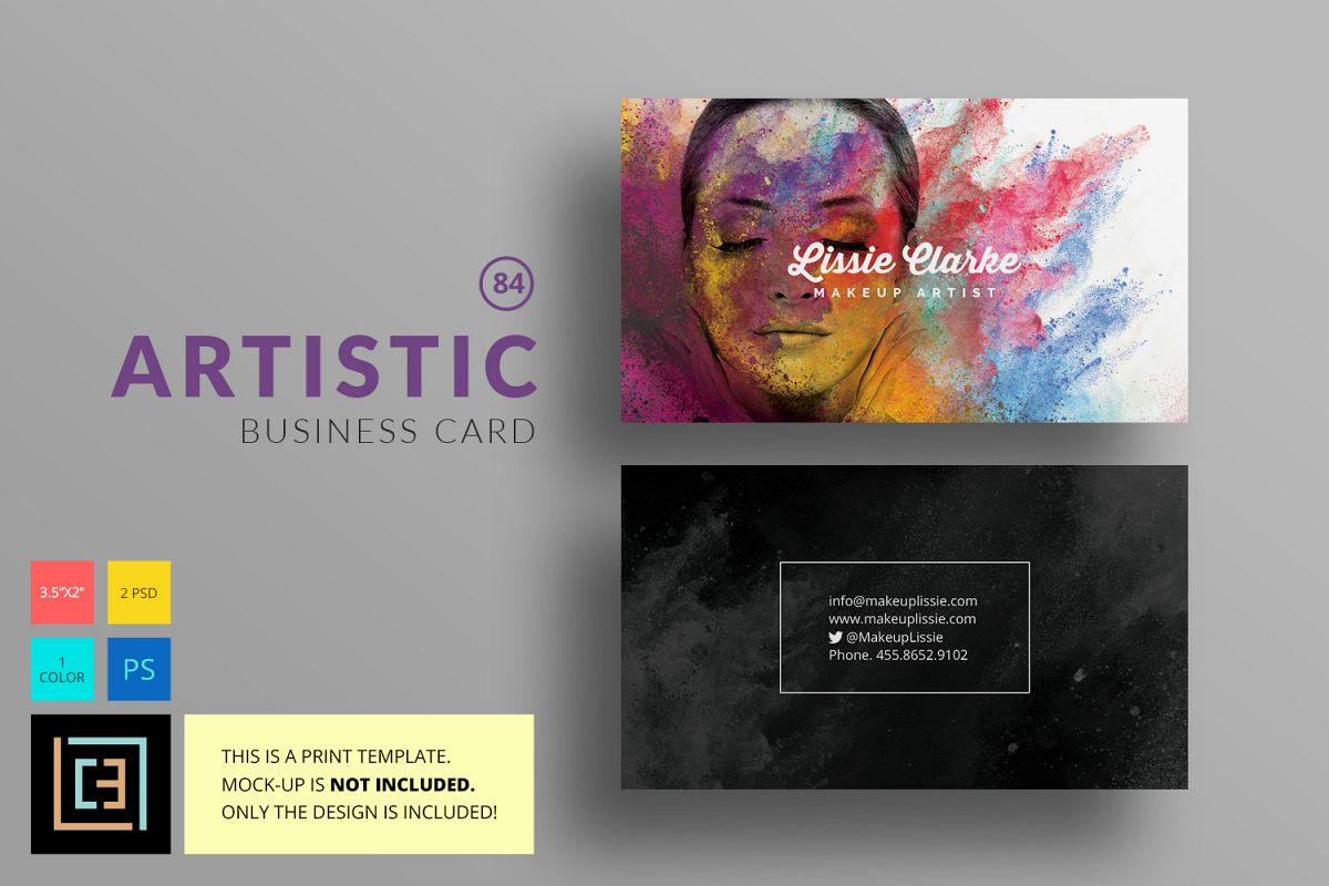 Artistic Business Card - BC084 by Coole | Design Bundles