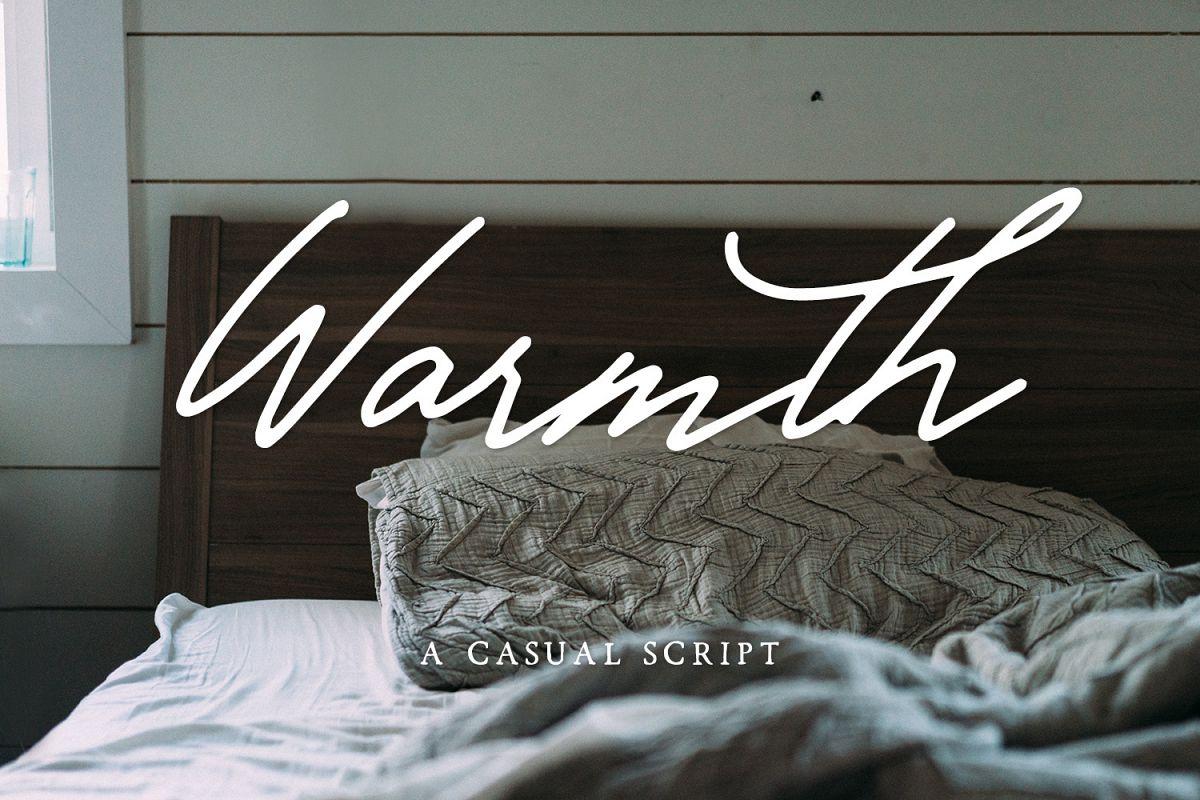 Warmth Casual Script example image