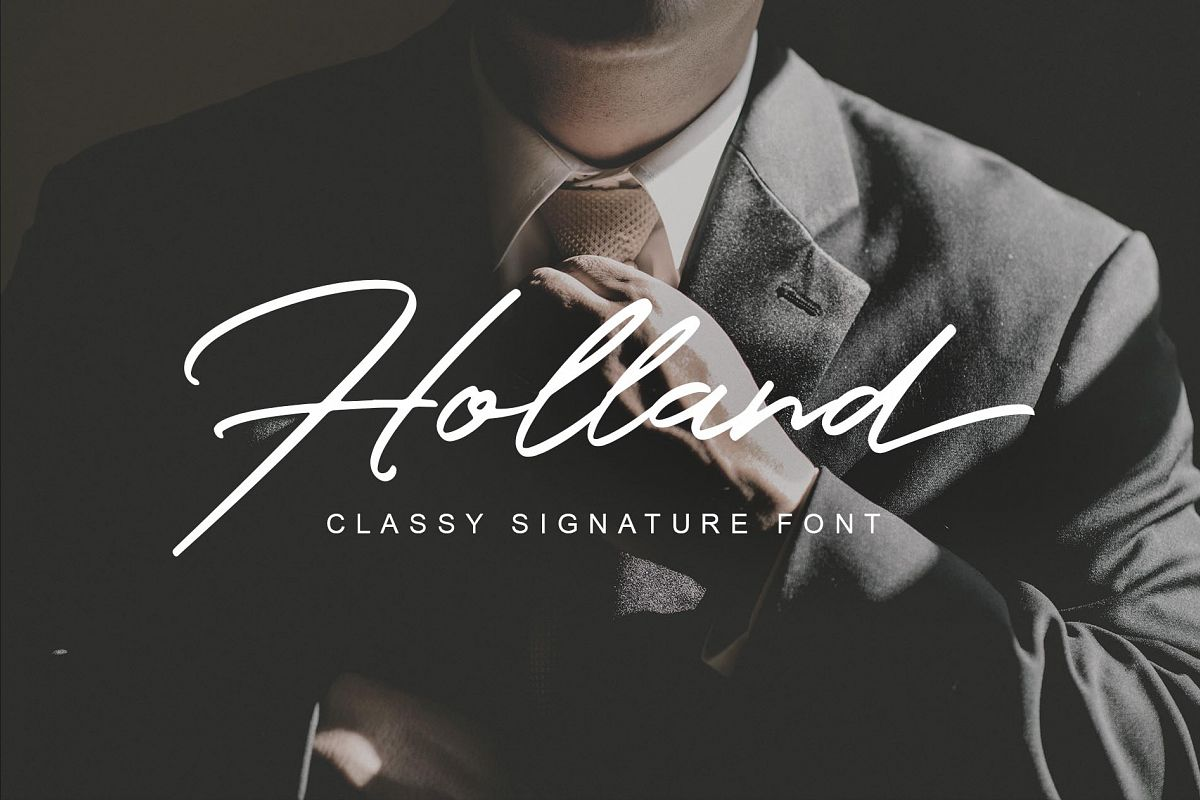 Holland Font example image