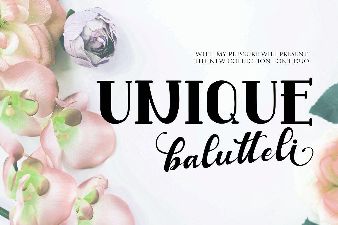Antique Balutteli Font Duo example image