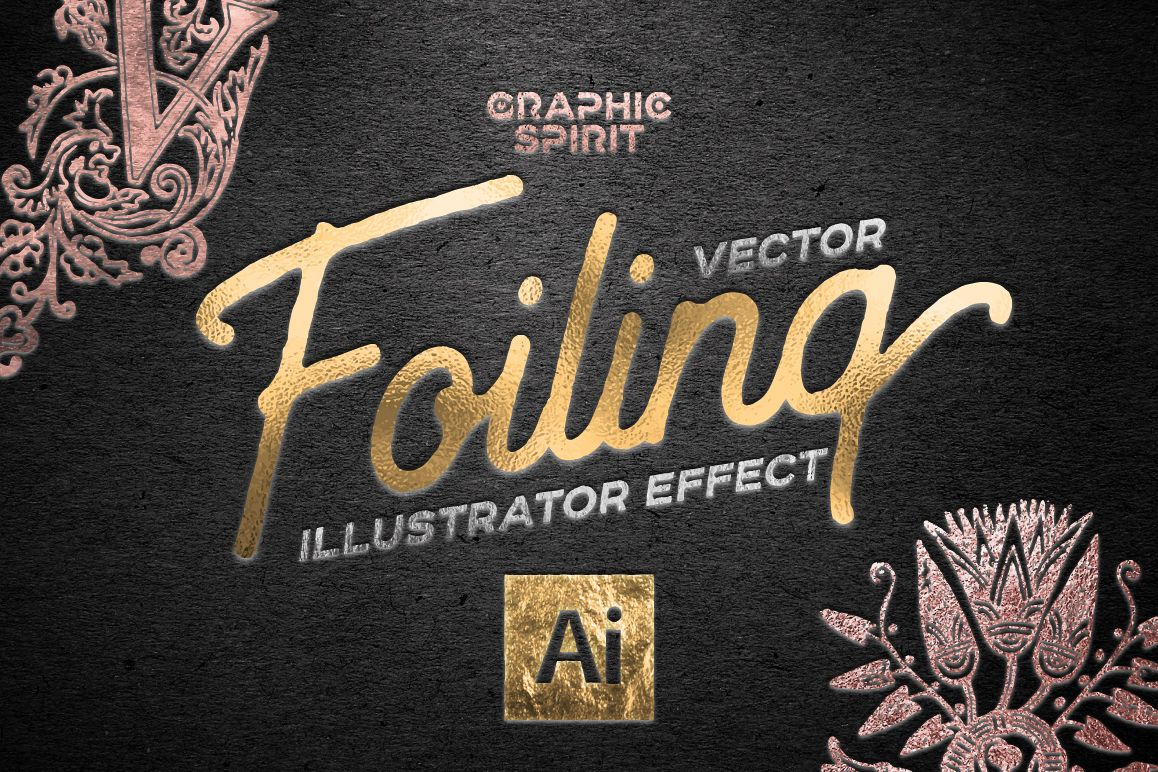 Vector Foiling Illustrator Effect example image