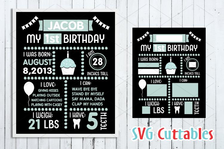 Birthday Board Cut File example image