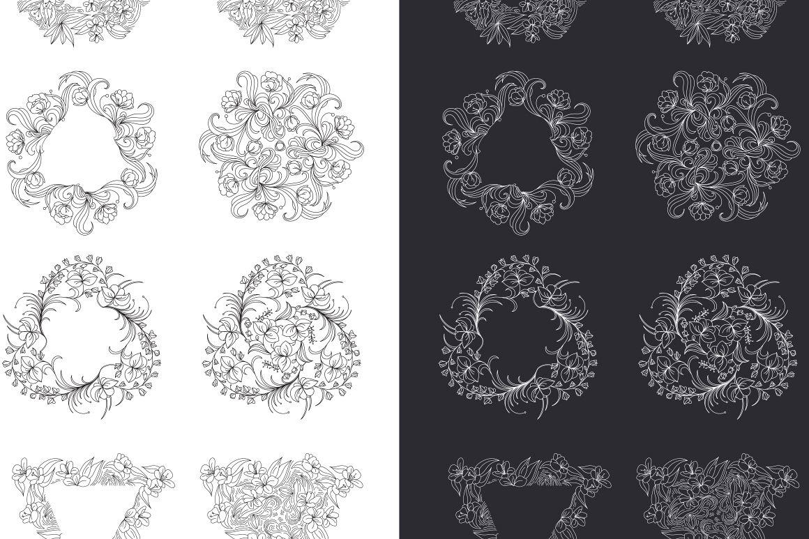 12 Floral design elements/ Pro example image 9