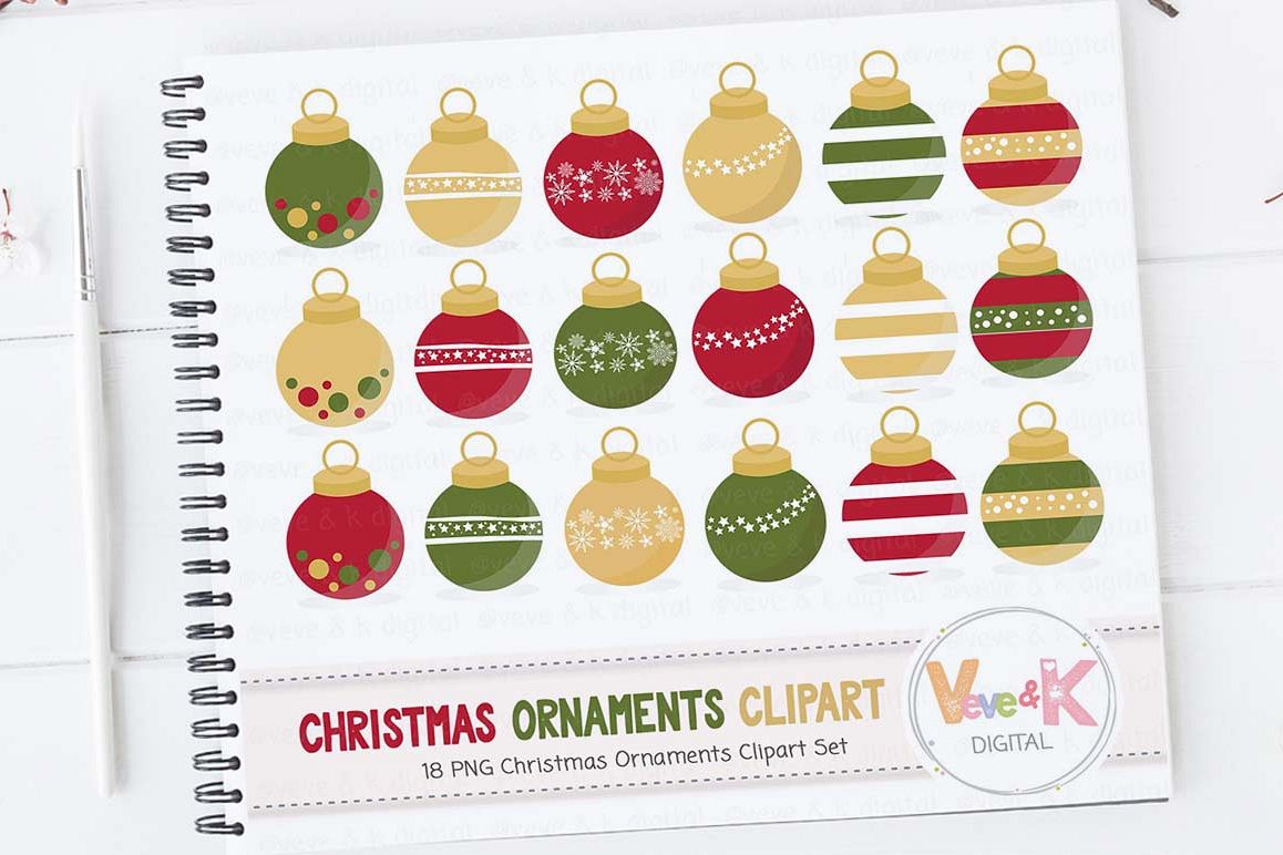 Christmas Ornaments Clipart Decor Holiday Balls