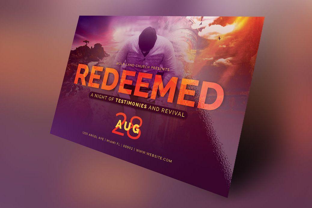 Redeemed Revival Church Flyer Template Design Bundles