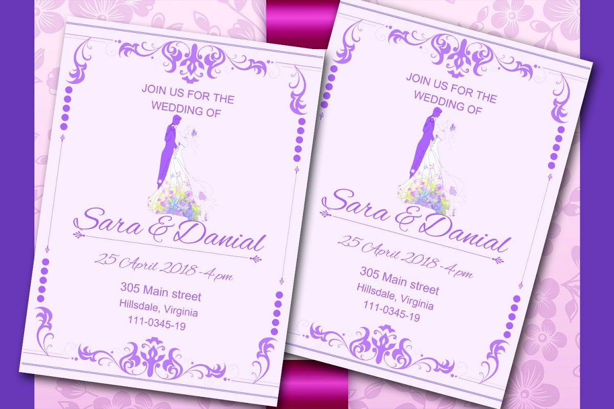 Elegant wedding invitation card by Mast | Design Bundles