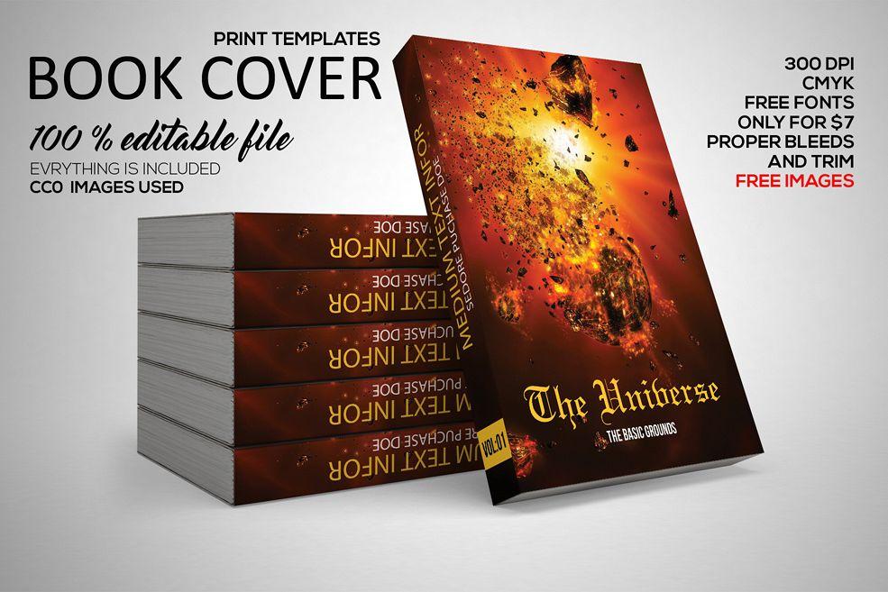Book Cover Template by Designhub719 | Design Bundles