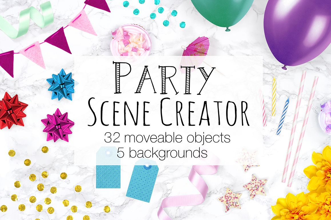 Party Scene Creator - Top View example image