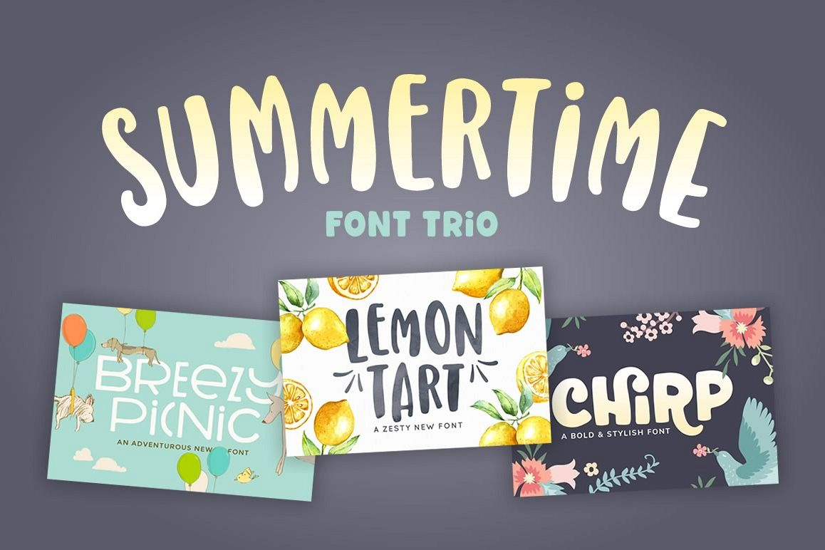 Summertime Font Trio example image