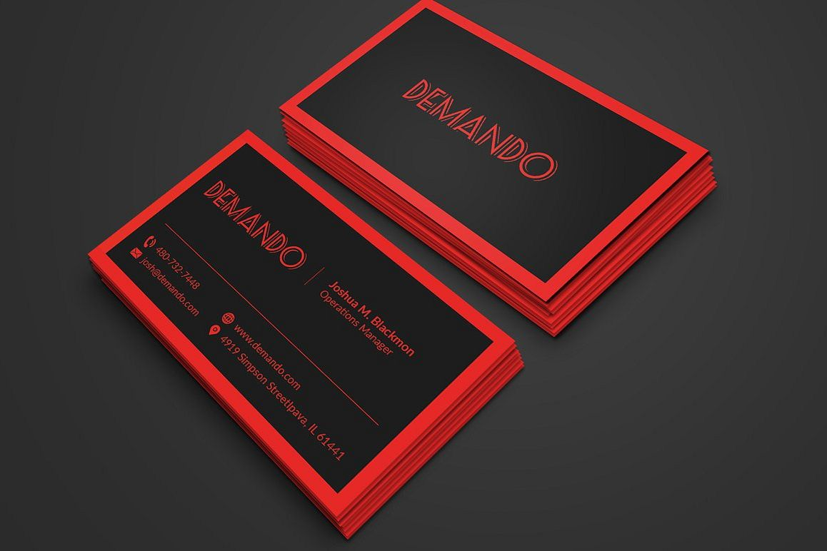Black and red business card by fancy fo design bundles black and red business card example image accmission Gallery