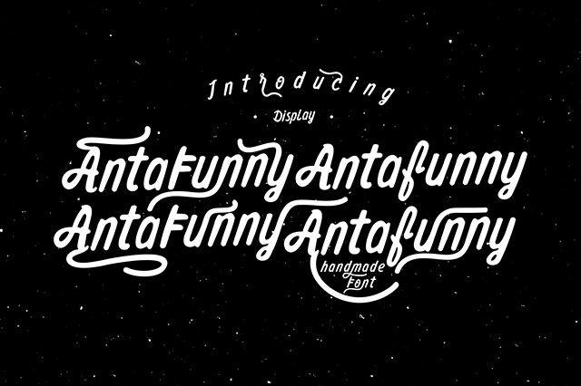 Antafunny Font example image