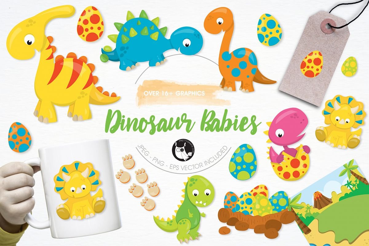 Dinosaur Babies graphics and illustrations example image