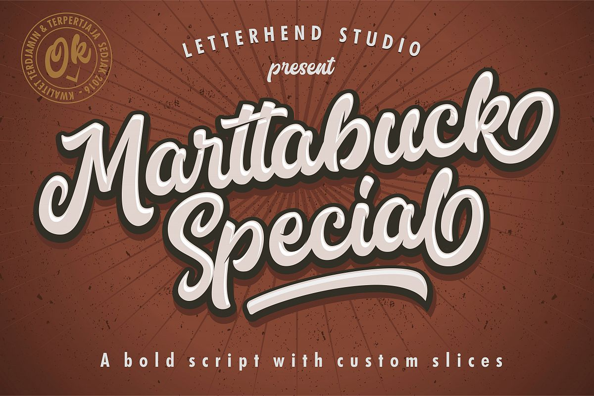 Marttabuck Script example image