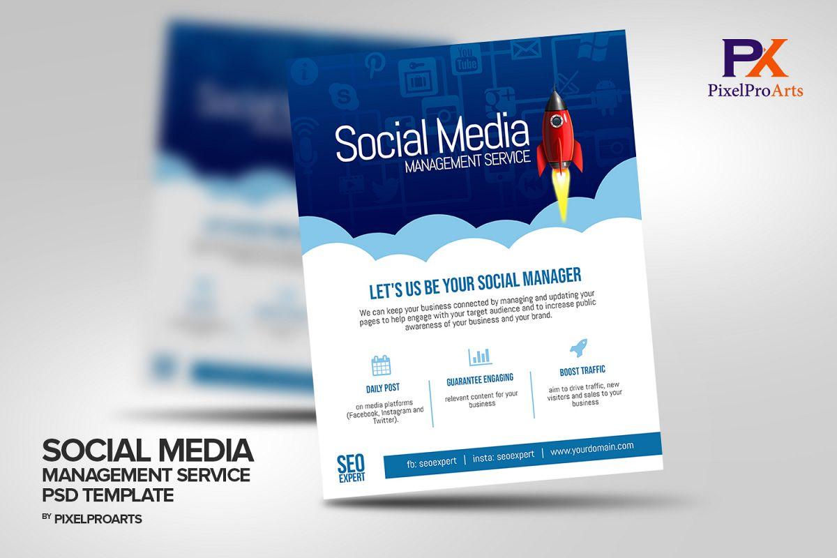 Social Media Management Service Flyer T | Design Bundles