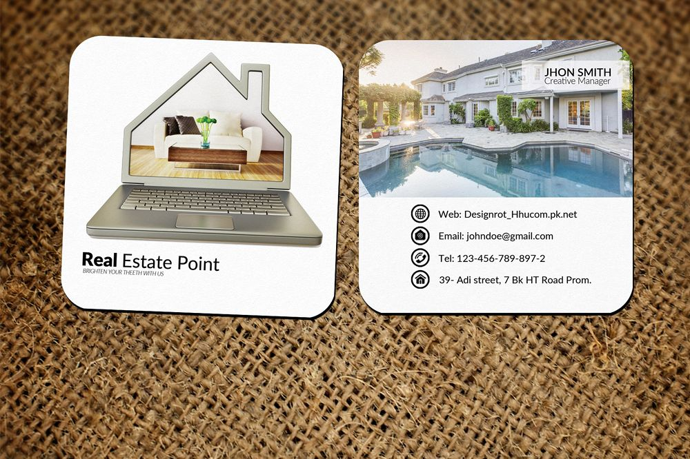Real Estate Small Business Card by Desi | Design Bundles