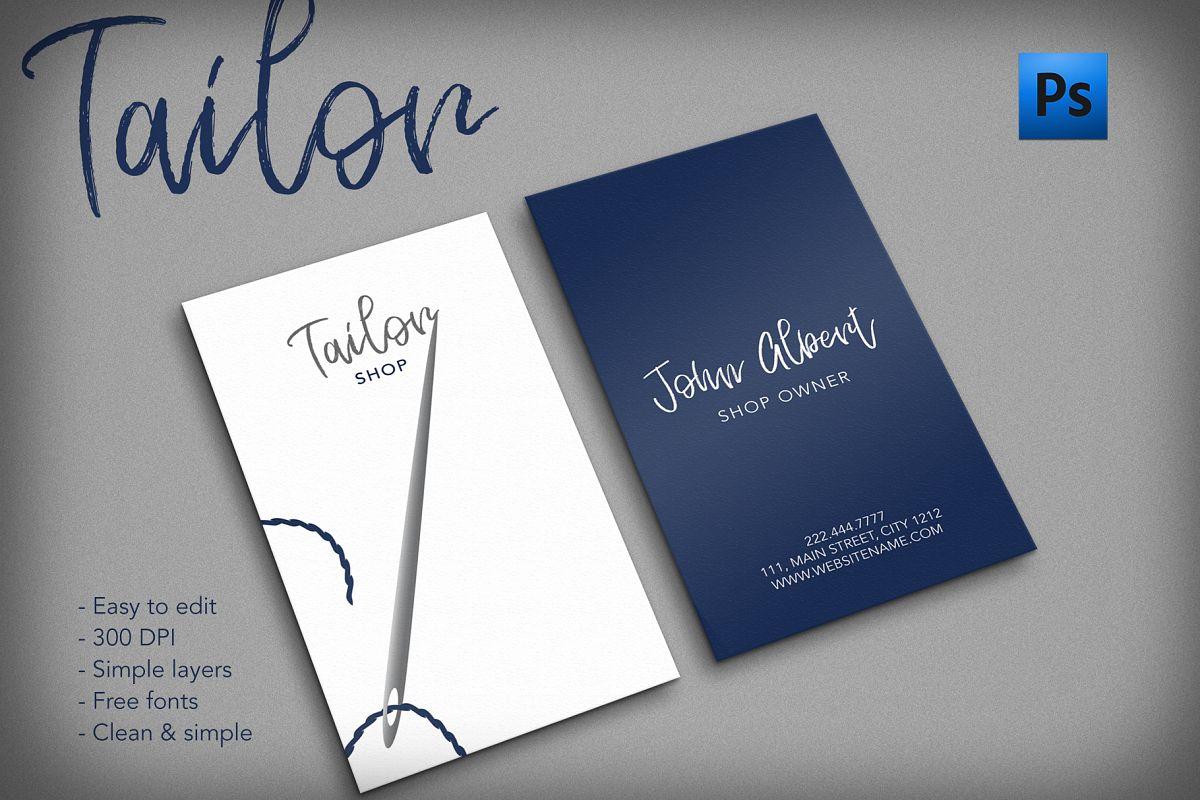 Tailor shop creative business card by C | Design Bundles