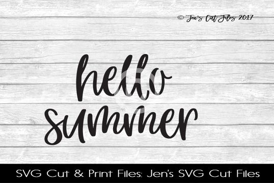 Hello Summer SVG Cut File example image