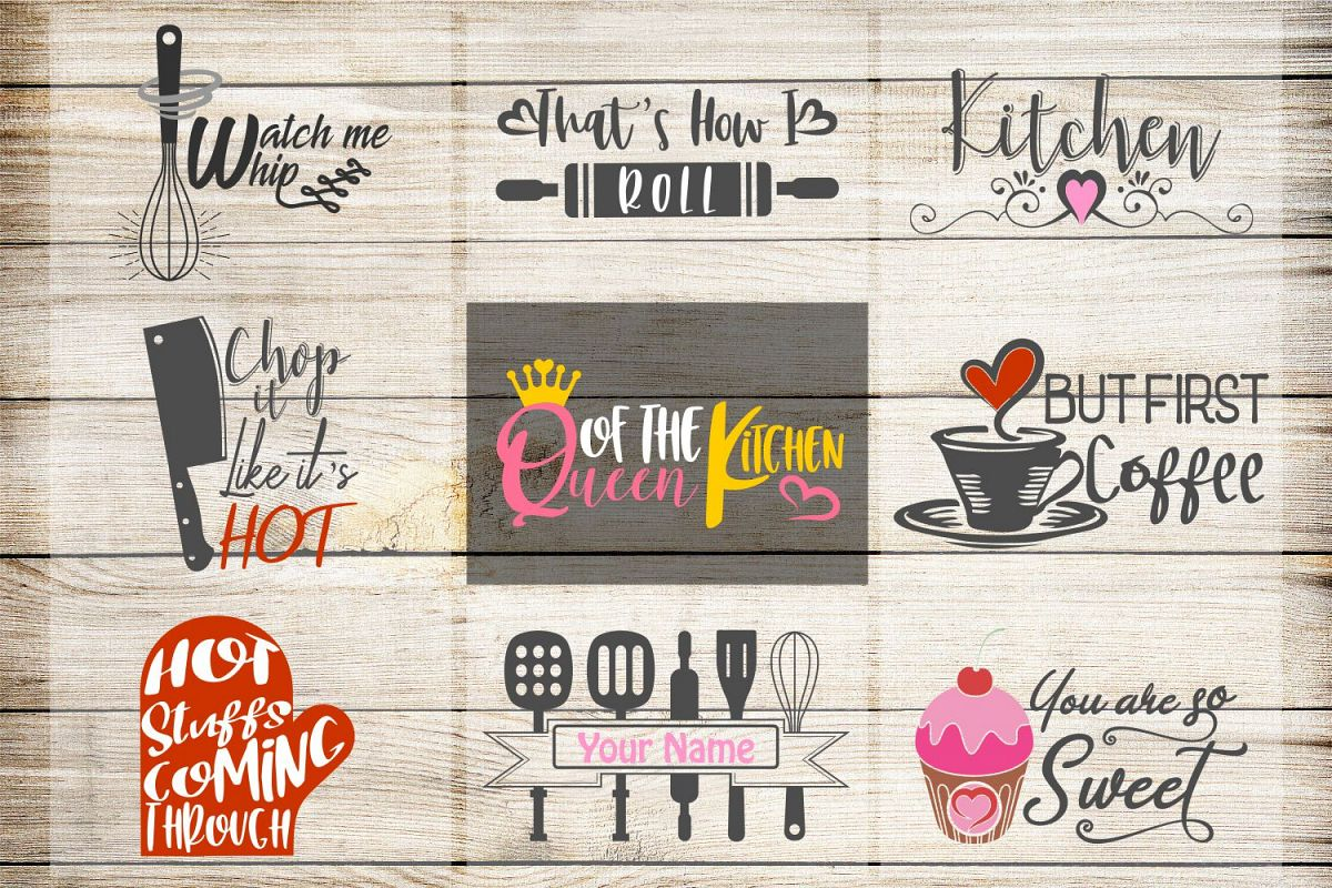 kitchen svg, VOL2, kitchen bundle, kitchen clipart, kitchen example image