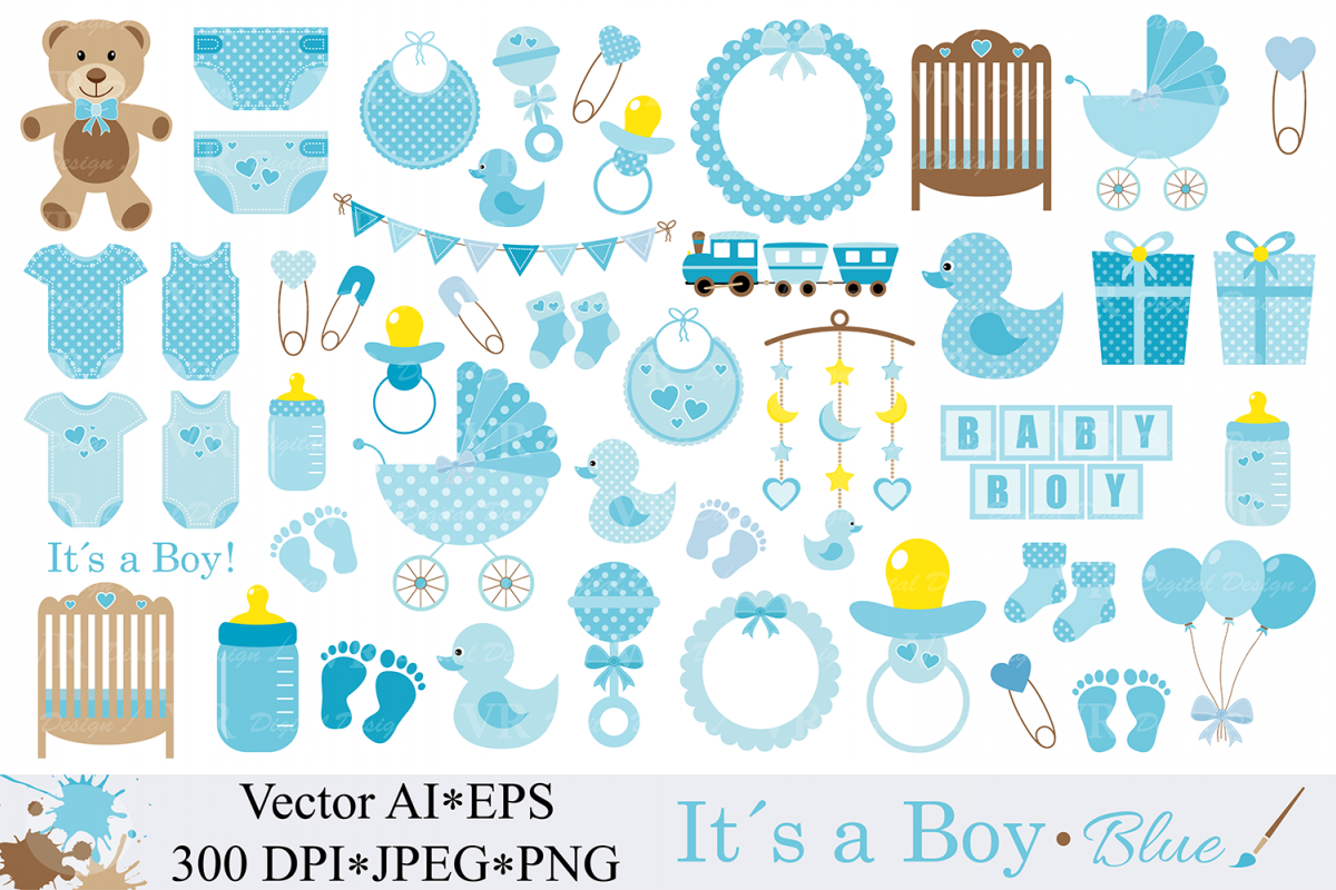 baby boy clipart blue baby shower cli design bundles rh designbundles net baby shower elephant clipart boy baby boy shower invitation clipart