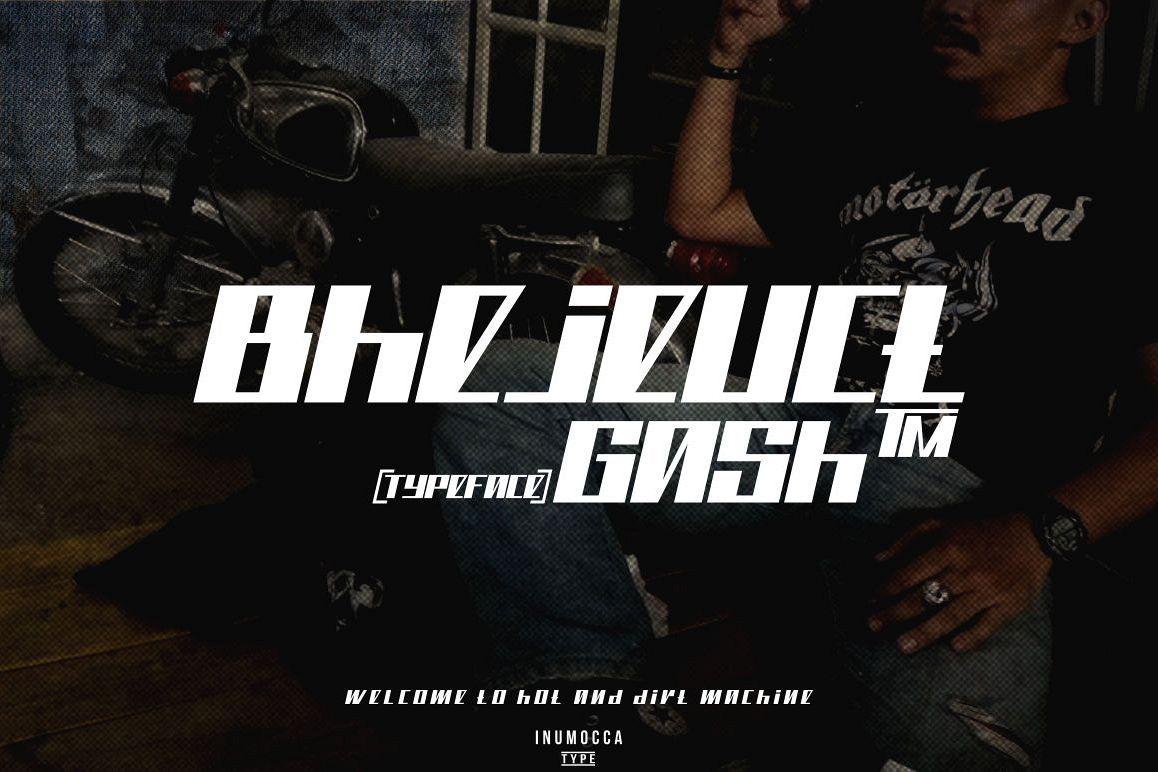 Bhejeuct gash typeface example image