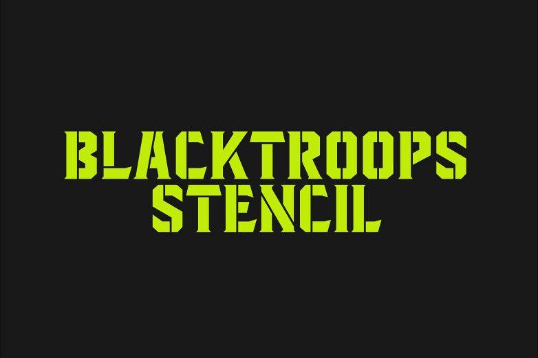 Blacktroops Stencil example image