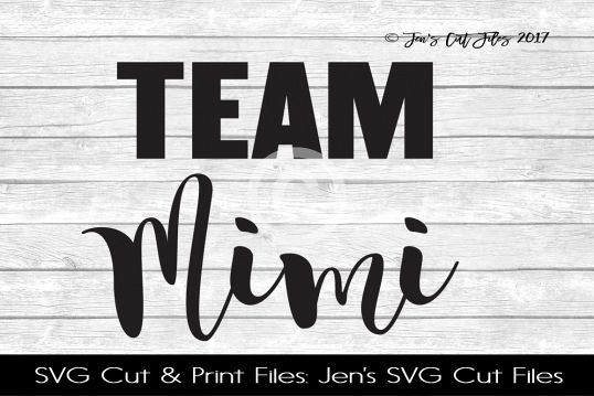 Team Mimi SVG Cut File example image
