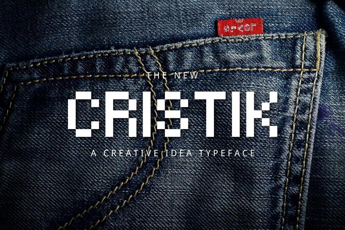 Cristik | A Creative Type example image