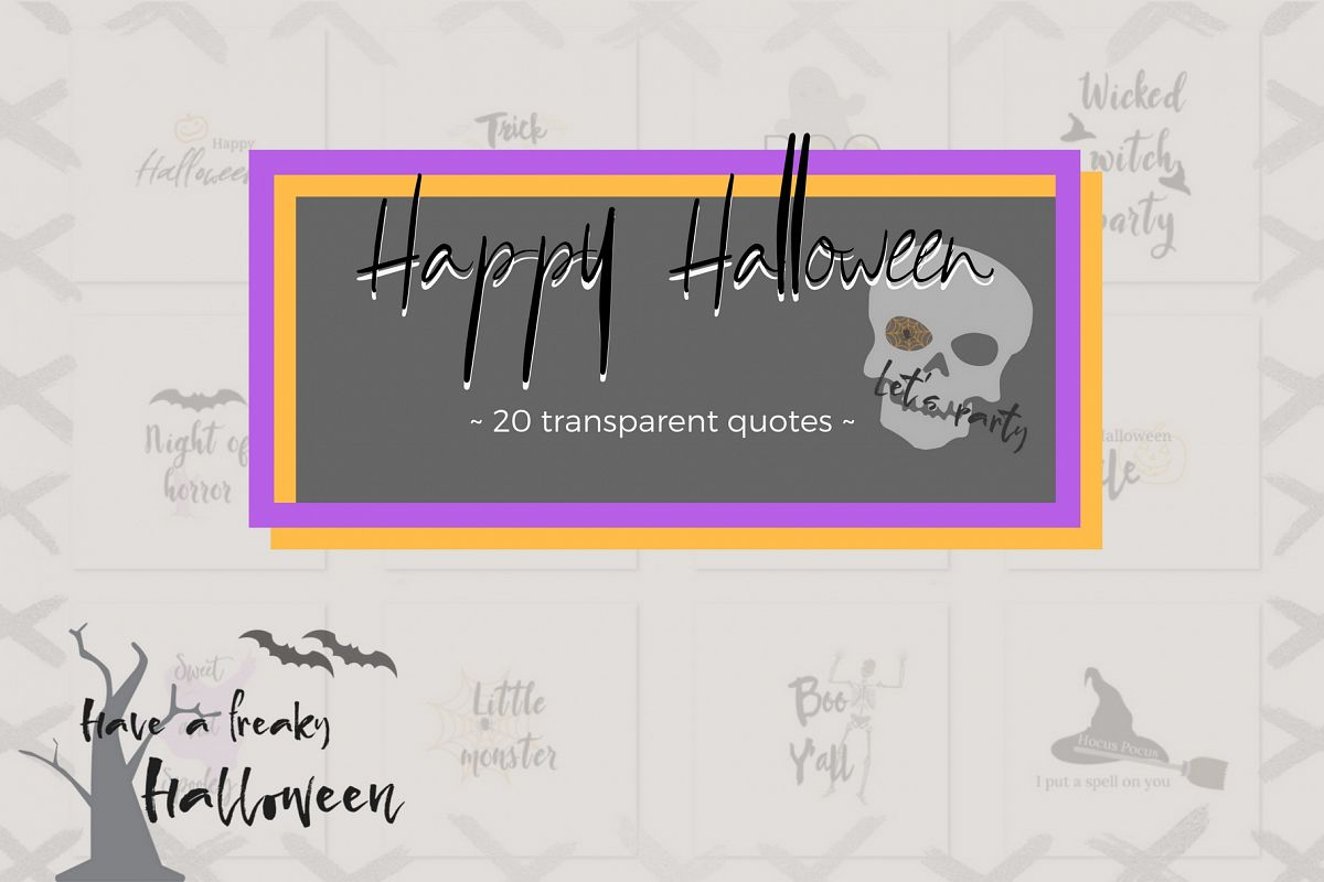 20 Halloween lettering collection example image