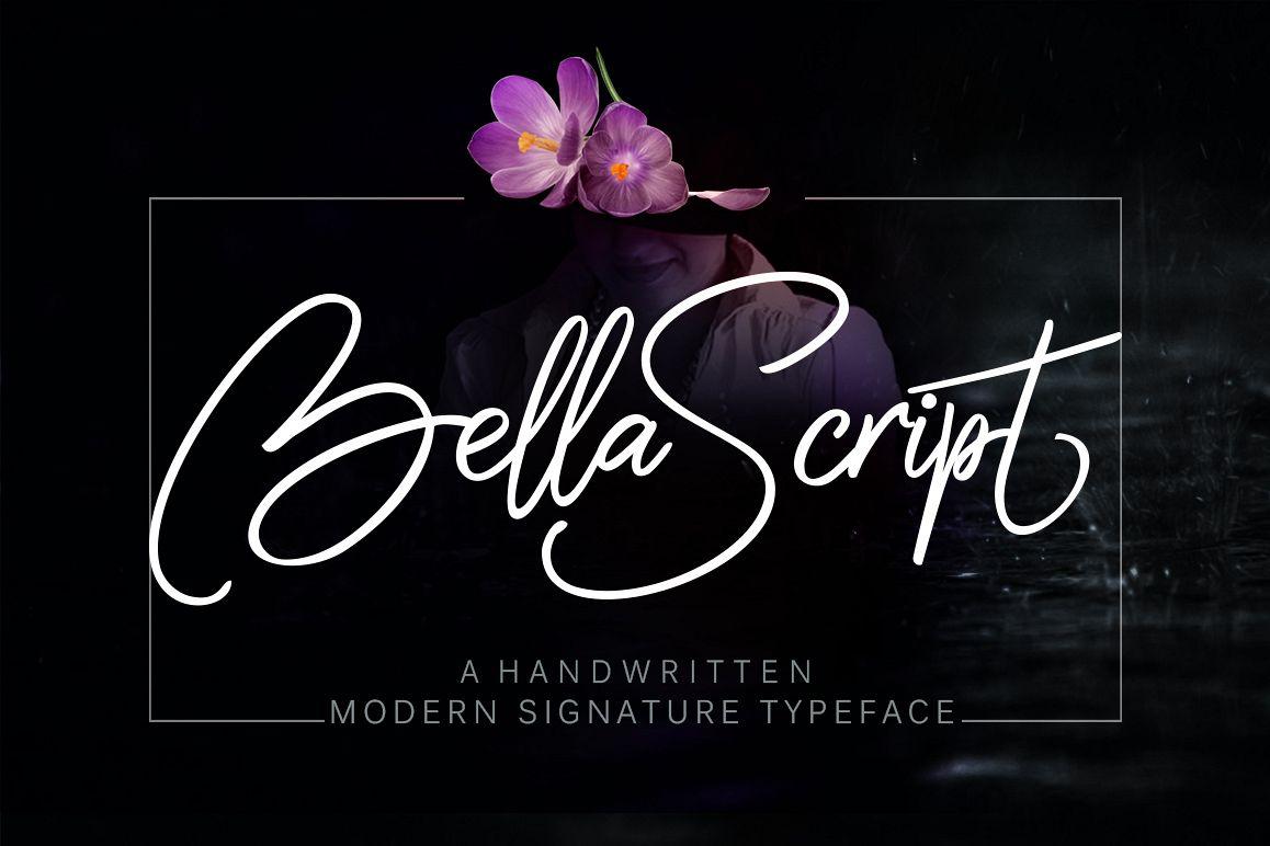 Bella script + swash example image