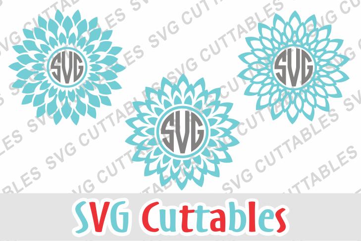 Mandala Monogram Frames by SVG Cuttabl | Design Bundles