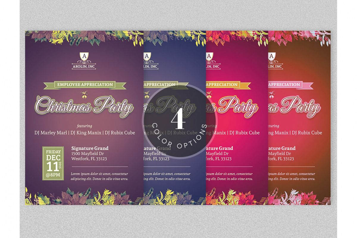 Christmas Party Flyer Template example image 3