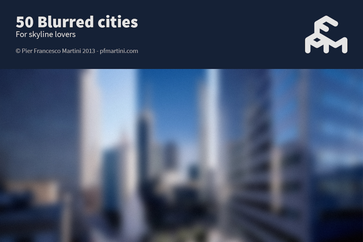 50 Blurred cities example image