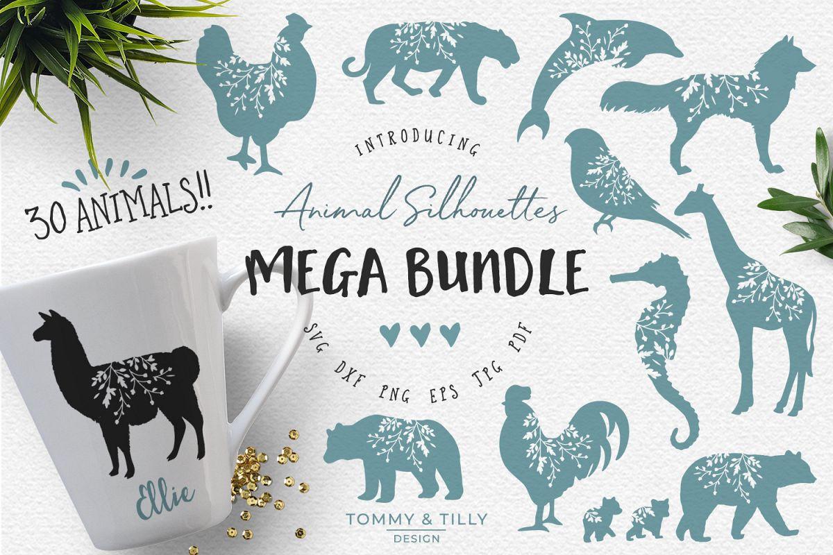 Animal Silhouettes Mega Bundle - SVG DXF PNG EPS JPG PDF Cut example image