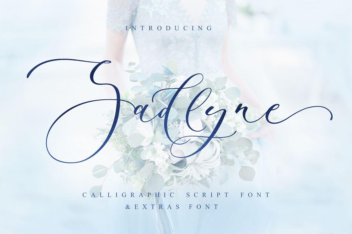 Sadlyne calligraphic font & extras example image