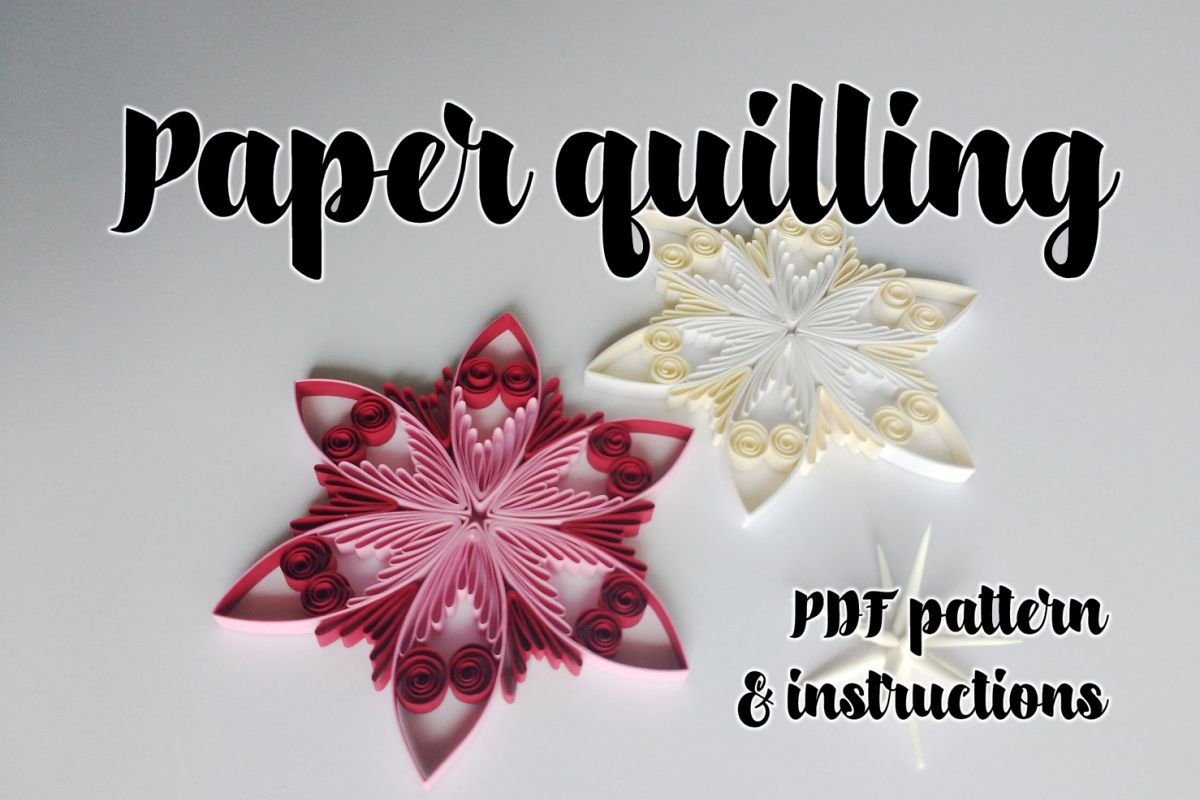 Quilling pattern & step-by-step diagram | Design Bundles