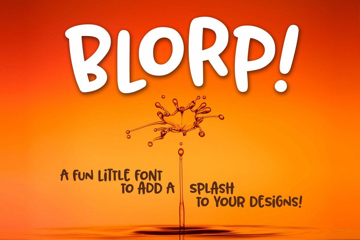 BLORP! A fun, weird little font! example image