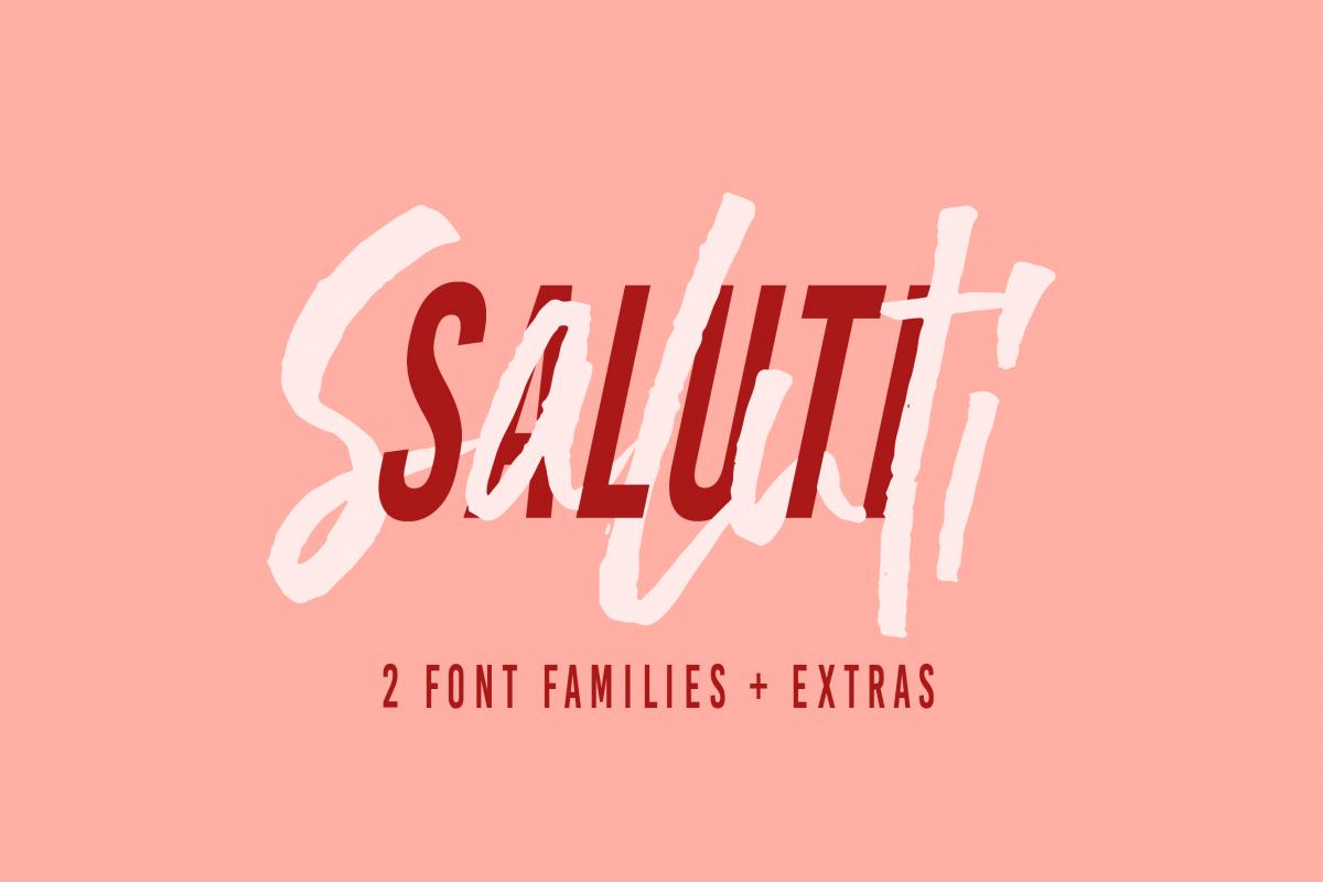Saluti | Font Pair + Extras example image