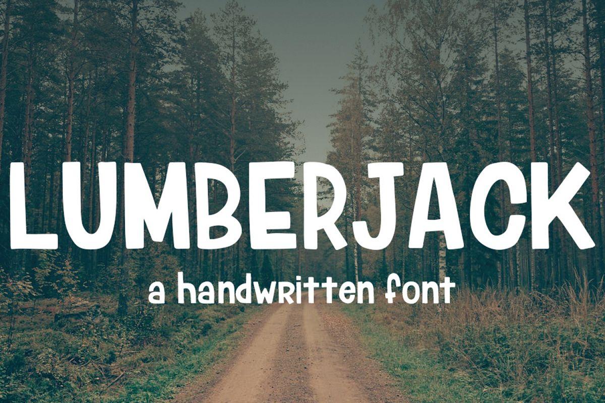 Lumberjack Font example image