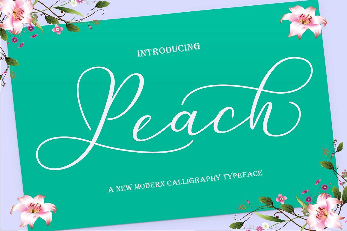 Peach Script example image