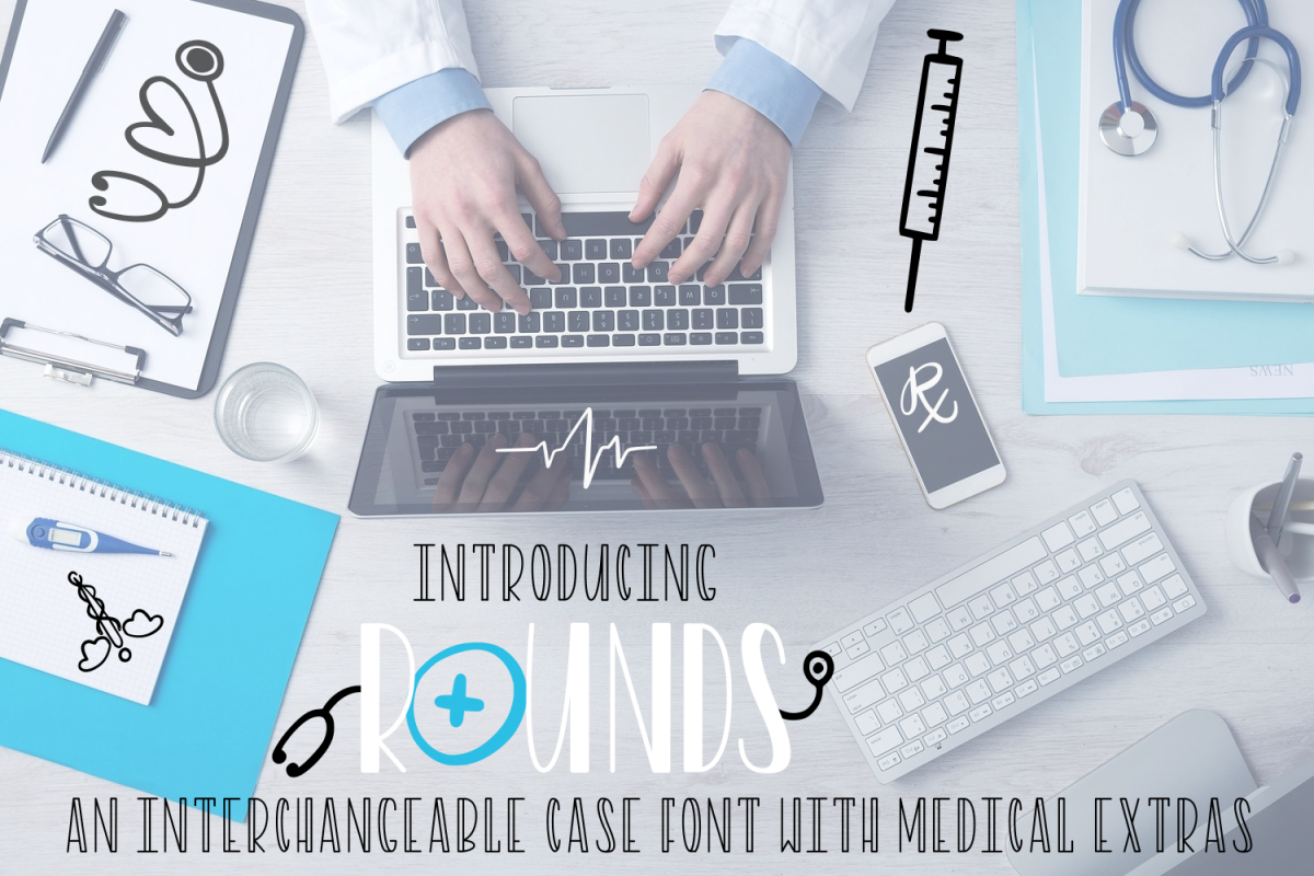 Rounds - A Nurse Font With Extras example image