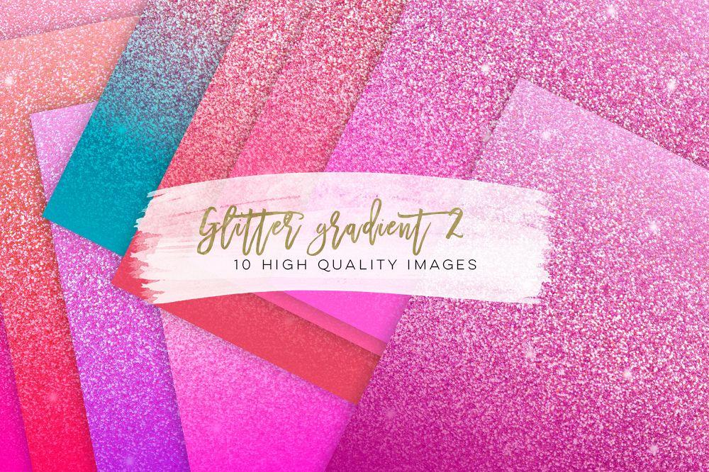 Glitter Gradient Texture Pink Glitter Design Bundles