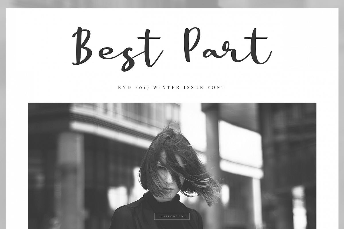 Best Part - Beauty Casual Font example image
