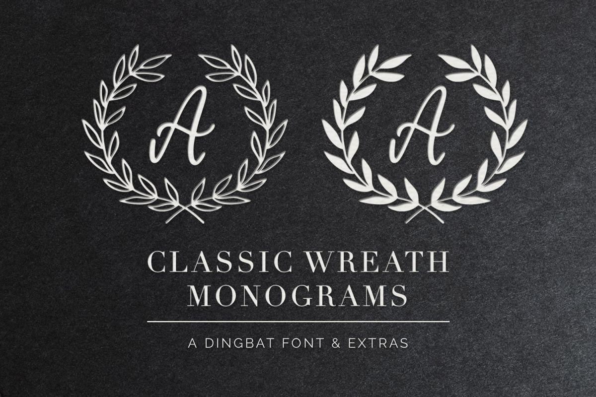 Classic Wreath Monograms Dingbat Font example image