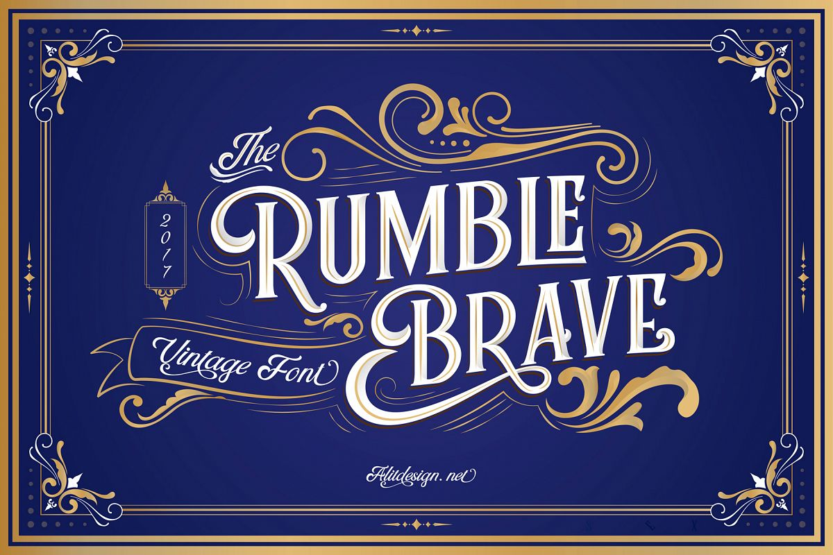 Rumble Brave Vintage Fonts example image