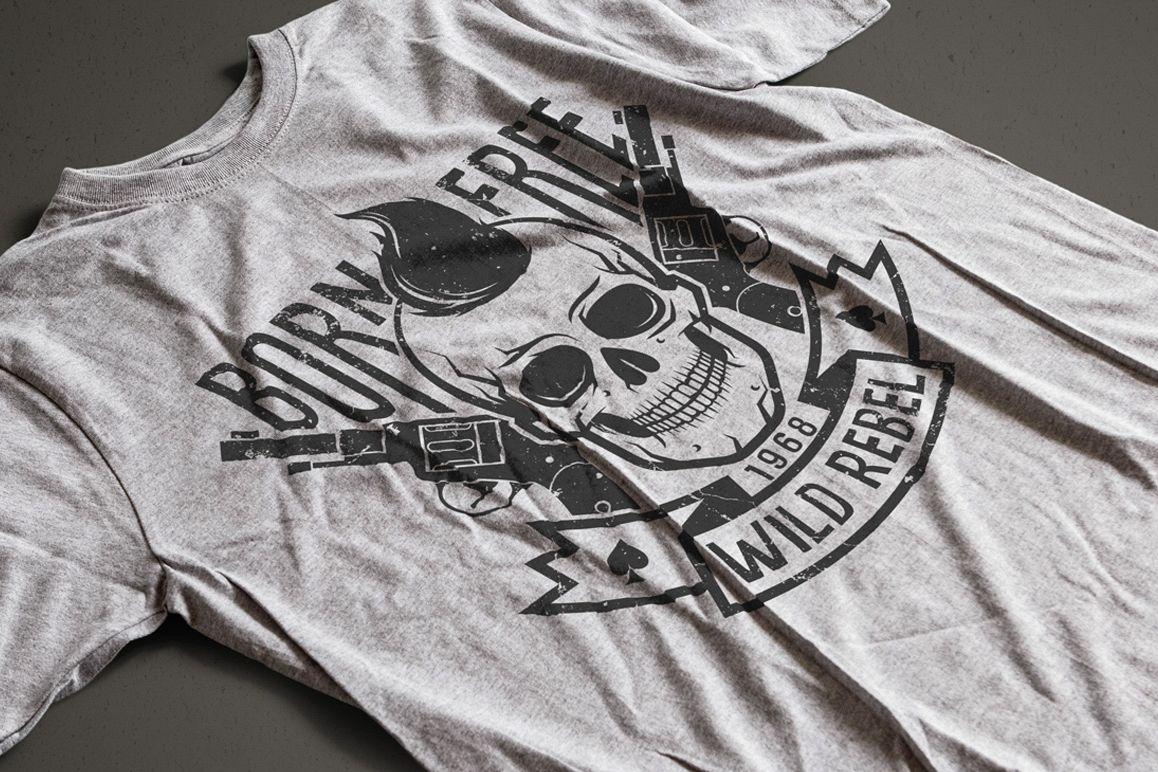 Hipster Skull Design Bundle example image 8