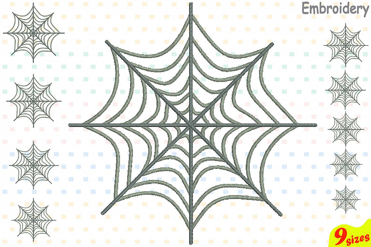 Spider Web Designs for Embroidery Machi | Design Bundles