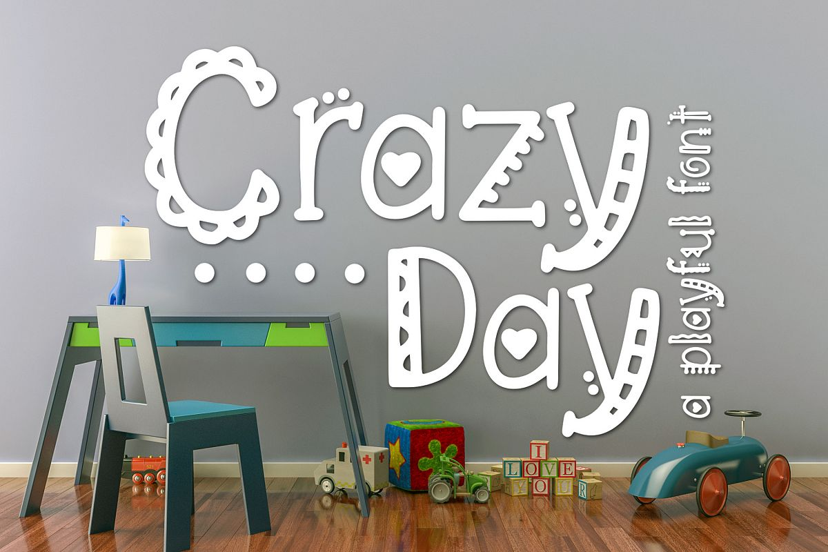 Crazy Day a Playful Font example image