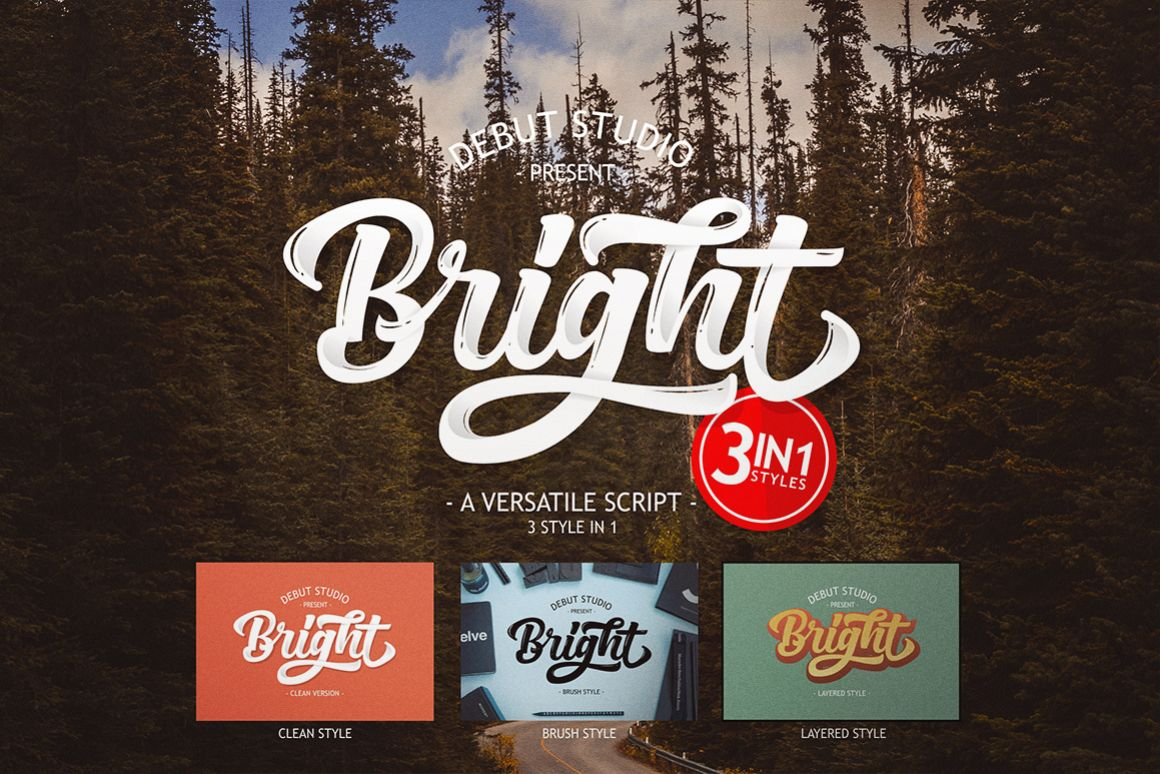 Bright Script (Fonts Trio)  example image