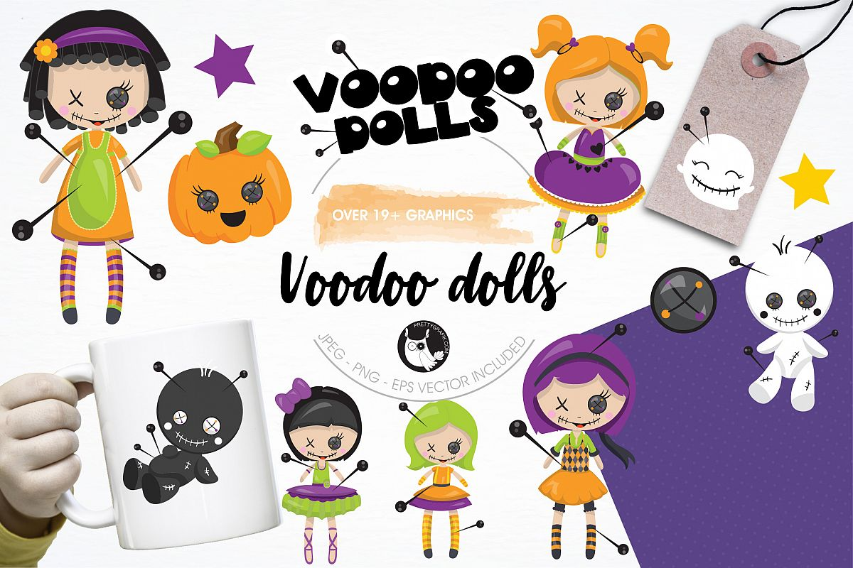 Voodoo dolls graphics and illustrations example image