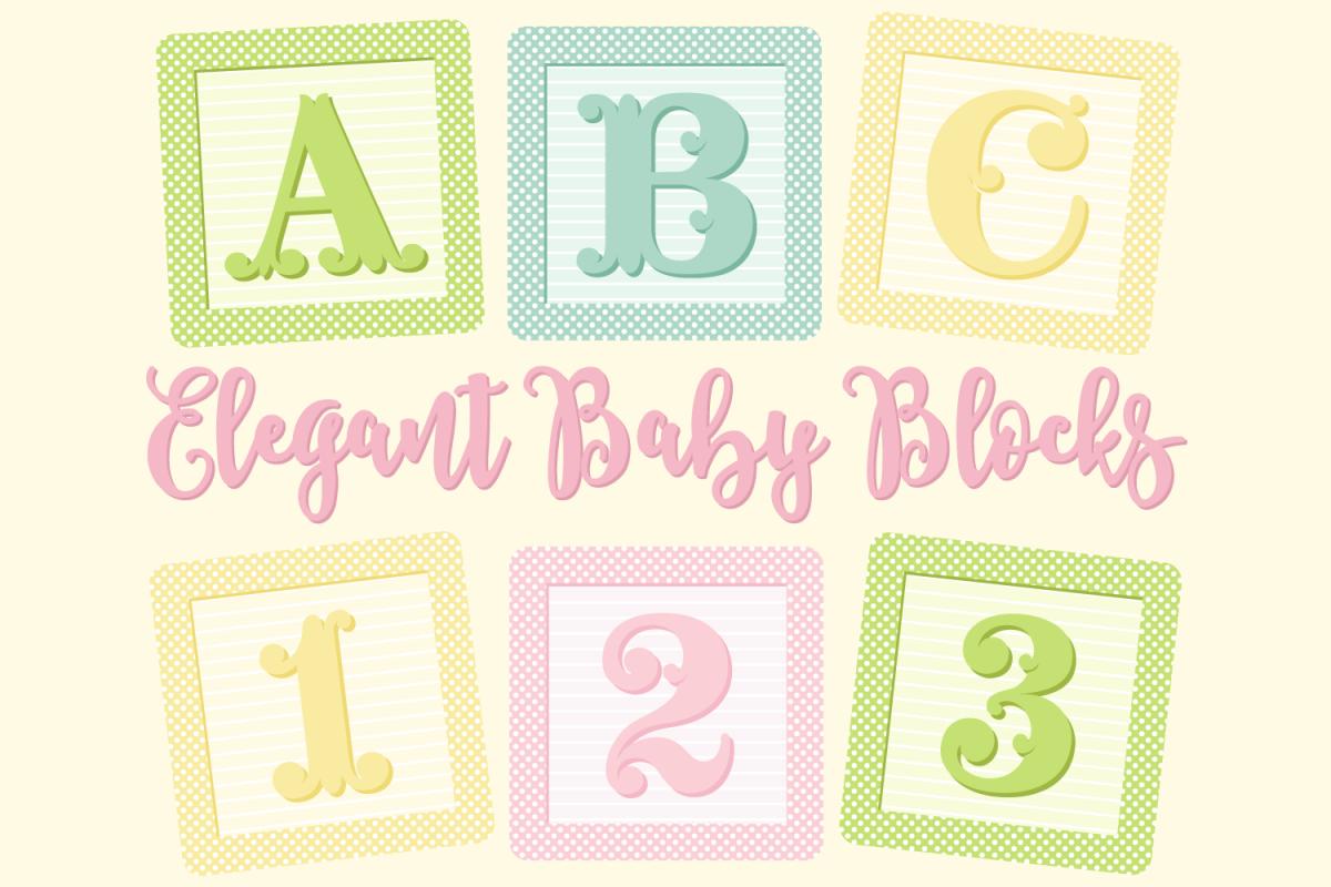 elegant baby blocks alphabet clip art b design bundles rh designbundles net baby shower blocks clip art free clipart baby blocks